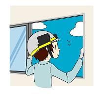 窓や押し入れの換気をします